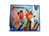 Disney Zootropolis Lees en Luister mee CD – 14x12cm | Luisteren naar Verhalen | Boek en CD | Leren Lezen
