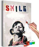 Doe-het-zelf op canvas schilderen - Smile 40x60