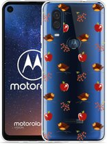 Motorola One Vision Hoesje Apples and Birds