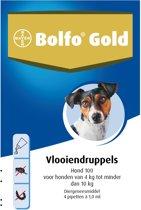 Bolfo Gold 100 Anti vlooienmiddel - Hond - 4 Tot 10 kg - 4 pipetten