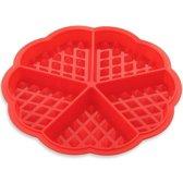 Kitchen Brothers - Siliconen Wafelvorm / Wafelijzer – Hartvorm - Rood
