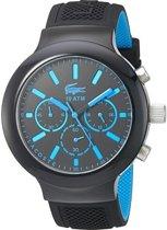 Lacoste horlogeband 2010812 / LC-61-1-29-2600 Rubber Zwart 16mm