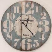 Wandklok Vintage Cafe de Paris RETRO