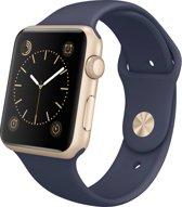 Siliconen Band Voor Apple Watch Series 1/2/3/4 42 MM / 44 MM - iWatch Armband Polsband Strap - Marine Blauw