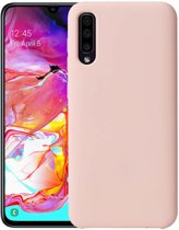 Samsung Galaxy A70 Siliconen Hoesje Roze Premium Back Cover Shockproof Case