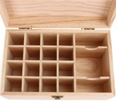 19 slots etherische olie opslag display box houten kist aromatherapie container organizer