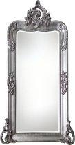 Qweens - Spiegel - Iris- zilver - buitenmaten breed 63 cm x hoog 150 cm.