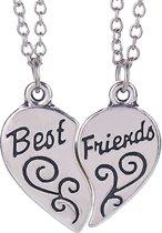 Fako Bijoux® - Vriendschapsketting - Best Friends - Krul - 54cm