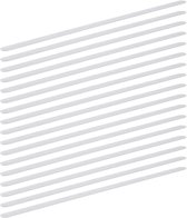 relaxdays antislip strips - 17 stuks - 60 cm - anti-slip sticker - zelfklevende strips