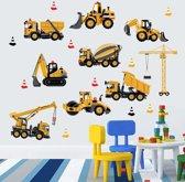 Stoere sticker voor op de muur of glas van vrachtwagens - Voor babykamer of kinderkamer - Muursticker