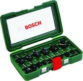 Bosch Houtfrezen - � 8 mm schacht - 15-delig - geschikt voor alle merken