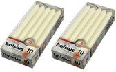Bolsius Dinerkaarsen - 230/20 kleur ivoor - 20 kaarsen in 2 verpakkingen