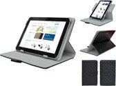 Diamond Class Case 360 graden draaibaar voor Samsung Galaxy Tab 4 7.0, Designer Hoesje, blauw , merk i12Cover