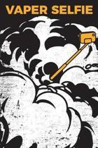 Gift Notebook for a Vape Smoker, Blank Ruled Journal Vaper Selfie