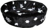 Hondenmand bont ster zwart 66x56x18cm