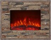 El Fuego LED elektrische inbouwhaard - Florence- steenlook - 1800 W