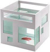 Umbra Fishhotel Nano Aquarium - 19x19x20 cm - 5L - wit