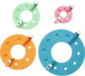 Pom Pom maker, d: 3,5 - 8,5 cm, 4 assorti