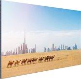 Dubai landschap Aluminium 180x120 cm - Foto print op Aluminium (metaal wanddecoratie) XXL / Groot formaat!