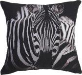 KAAT Amsterdam Striped Animal SierKussen - Black White 40x40