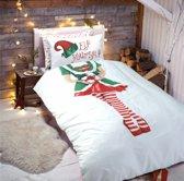 Kerst dekbedovertrek - Elf Yourself Girl  - 1 persoons