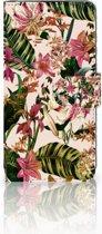 Huawei P30 Uniek Boekhoesje Flowers