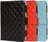 Designer Book Cover Case Hoes voor Sony Prs T3s met ruitmotief , blauw , merk i12Cover