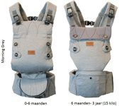 Najell ergonomische babydrager morning grey