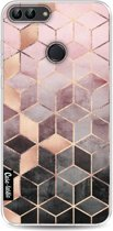 Casetastic Softcover Huawei P Smart - Soft Pink Gradient Cubes