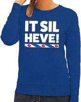 Blauwe trui / sweater Friesland It Sil Heve dames 2XL