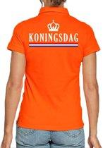 Koningsdag poloshirt oranje voor dames S