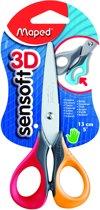 Sensoft 3D 13 cm / 5 schaar - zachte grepen - rood/geel