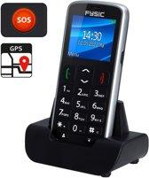 Alecto FM-7950 Senioren mobiele telefoon + GPS   SOS Noodknop: Stuurt SOS bericht met locatie   Zwart