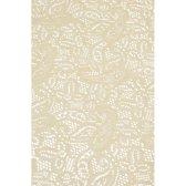 Buiten tafelkleed/tafellaken beige 140 x 260 cm rechthoekig - Tuintafelkleed tafeldecoratie