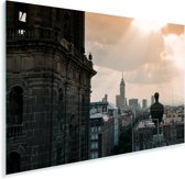 Het historische centrum van Mexico-stad Plexiglas 90x60 cm - Foto print op Glas (Plexiglas wanddecoratie)