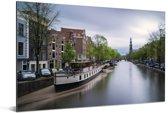 De Prinsengracht van Amsterdam bij daglicht Aluminium 60x40 cm - Foto print op Aluminium (metaal wanddecoratie)