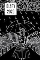 2020 Daily Diary Journal, Girl & Umbrella