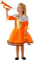 Kostuum Prinses Kids Oranje maat M