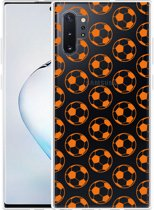 Galaxy Note 10 Plus Hoesje Orange Soccer Balls