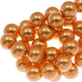 Glasparels (8 mm) Bright Orange (100 Stuks)