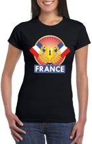 Zwart Frankrijk supporter kampioen shirt dames S