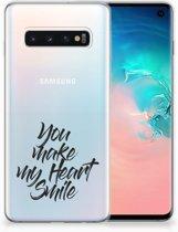 TPU Siliconen Hoesje Samsung Galaxy S10 Design Heart Smile