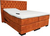 Slaaploods.nl Princess - Elektrische Boxspring inclusief matras - 180x210 cm - Cognac