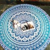 Bohemida Roundie - Blue Ombre - Strandlaken - 100 % Duurzaam Katoen