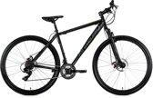 """Ks Cycling Fiets Hardtail mountainbike 29"""" Twentyniner Heist met 21 versnellingen zwart - 51 cm"""