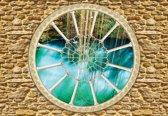 Fotobehang Stone Wall Nature | M - 104cm x 70.5cm | 130g/m2 Vlies