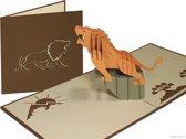Popcards popupkaarten – Leeuw Simba Lion King Dieren Verjaardag Felicitatie Pensioen pop-up kaart