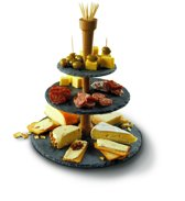 Boska Cheese Tower Etagère - 3 Laags - Leisteen