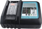 MAKITA Compatibele Accu Deluxe Snellader - 14.4V/18V LXT - Li-ion - USB + LED Scherm