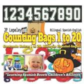 Counting Bags 1 to 20. Bilingual Spanish-English